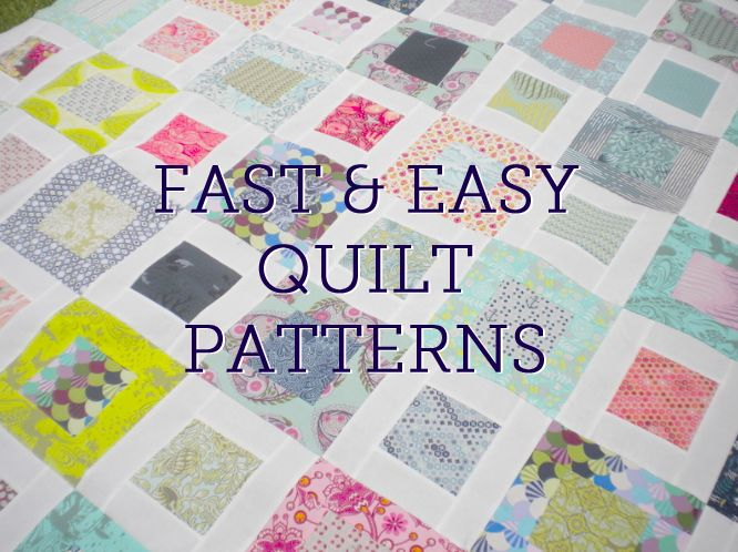 Fast and Easy Quilt Patterns Sewing/Quilting Pinterest