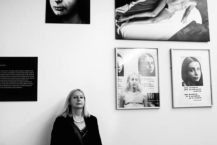 Ewa Partum w Limerick City Gallery.
