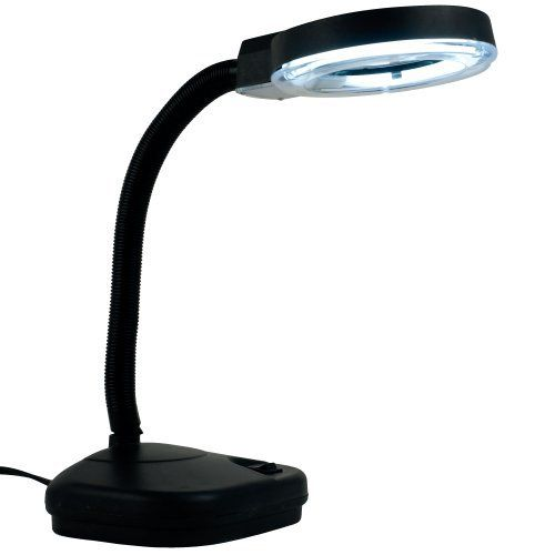 Trademark Tools 75-MG9255B Florescent Gooseneck Magnifier Light with 5x and 10x Zoom by Trademark Tools. $30.99. Ideal for precise work This lamp is a terrific accessory for the craftsman, hobbyist, mechanic and jeweler. It puts shadow-free lighting around a 3.5 inch diameter, 5 power lens to let you see small parts and fine details, and is excellent for precision work. With a compact base, it takes up very little room on your workbench. The goose neck lets you put the light an...