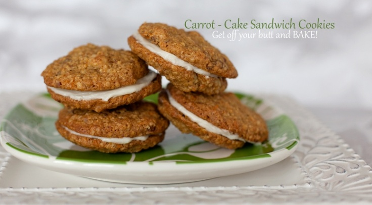 Carrot-Cake Cookies..sandwich style! | Me want COOKIE!!! | Pinterest