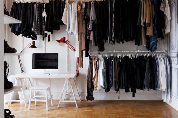 Open wardrobe.  Closet of Dreams  Pinterest