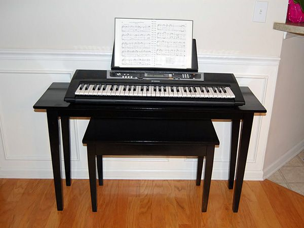 Diy keyboard stand and bench diy furniture pinterest Keyboard stand and bench