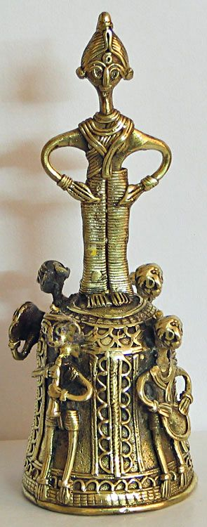 ritual bell with tribal musicians