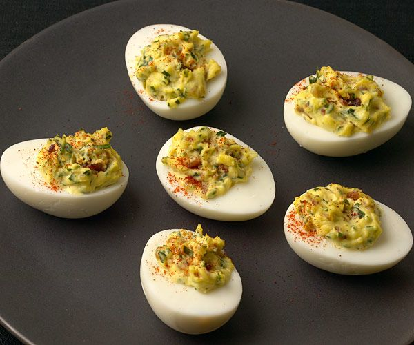 ... Chipotle Bacon Deviled Eggs recipe. It's a great twist on the deviled