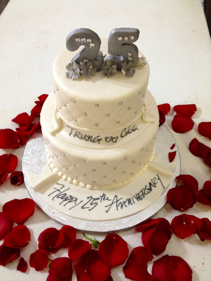 25 th anniversary cake anniversary ideas pinterest for Anniversary cake decoration