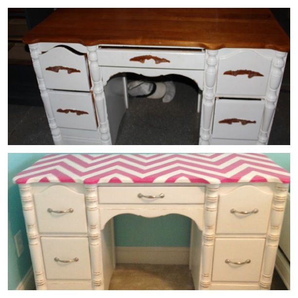 top=before bottom=after | Refinished Furniture | Pinterest