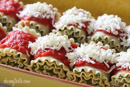 Mushroom Kale Lasagna Rolls | Skinnytaste - 6P+/1 roll