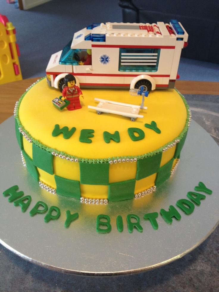 Ambulance Birthday Cake