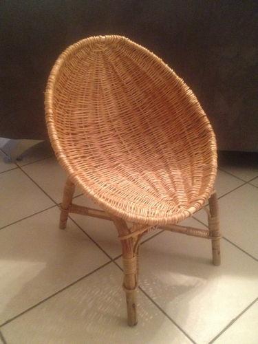 Table rabattable cuisine paris chaise enfant osier - Chaise en osier pas cher ...