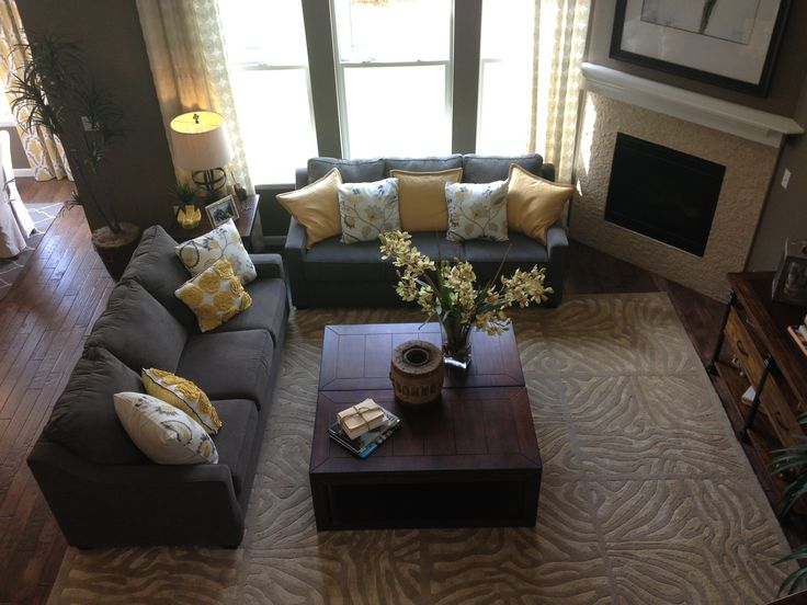 Gray And Yellow Living Room Living Room Ideas Pinterest