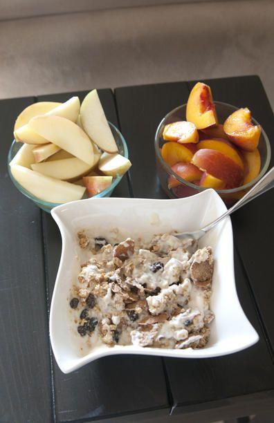 Breakfast of Champions: Peaches, Honey Crisp Apples, Granola, and So ...