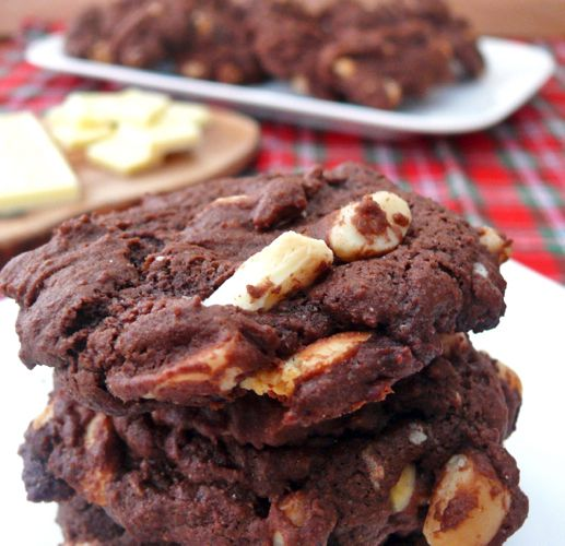 Day 9 - Double Chocolate White Chocolate Chunk Macadamia Nut Cookies ...