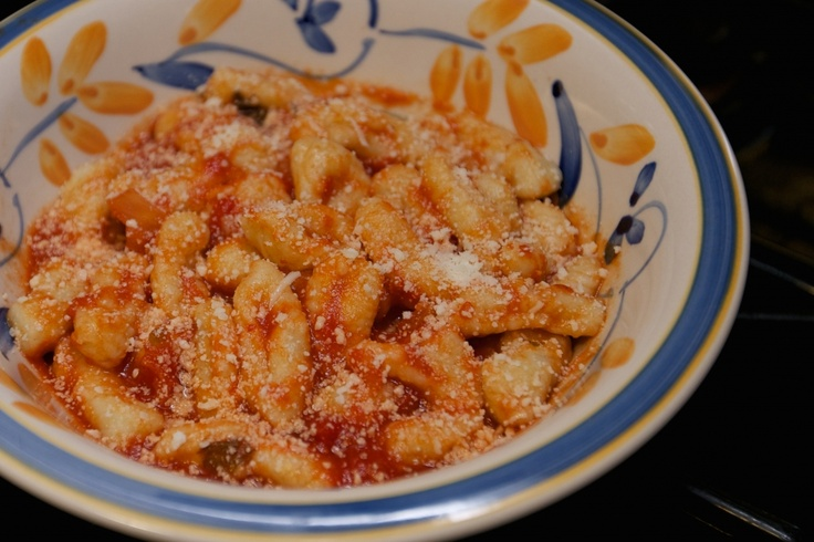 Potato gnocchi with tomato basil sauce | Pasta Recipes | Pinterest