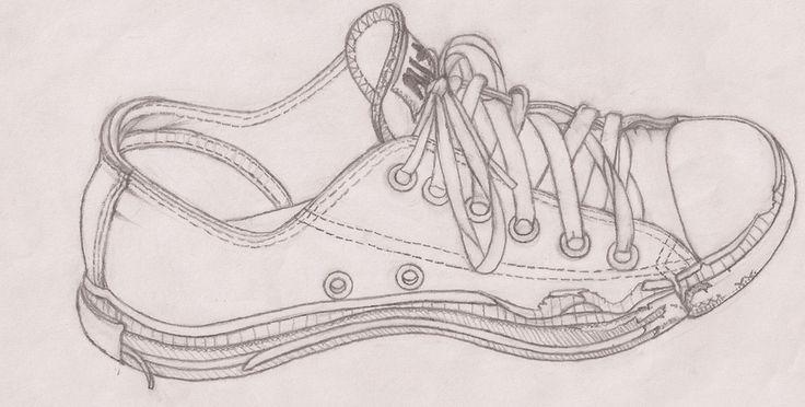 Line Drawing Lesson : Contour line shoest drawing lesson pinterest