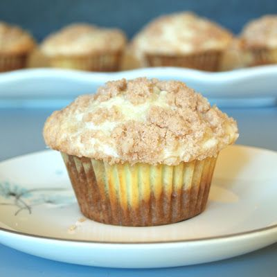banana cream cheese muffins with a crumble topping-- yum!