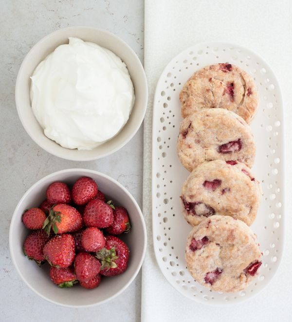 strawberries & cream biscuits [via smitten kitchen]