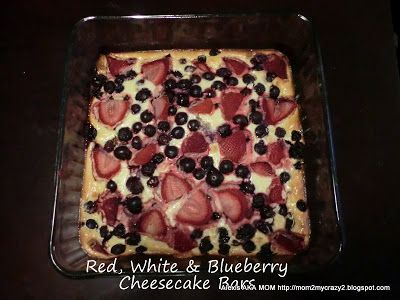 Red White and Blueberry Cheesecake Bars | America the Beautiful | Pin ...