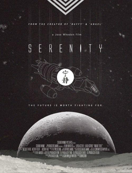Serenity, minimalist movie poster