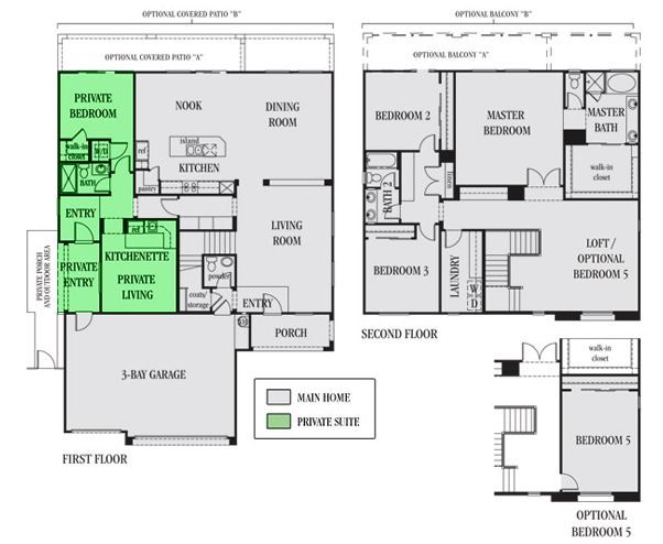 Home within a home in law suite plans pinterest for Las vegas house plans