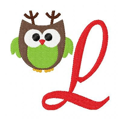Christmas Owl Machine Embroidery Design  OWL CLASS
