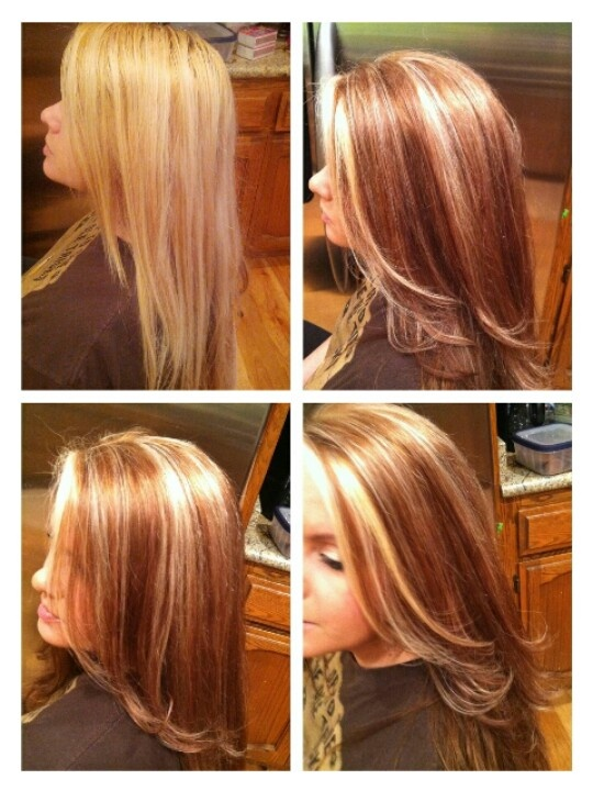Lowlights In Brown Hair Before And After