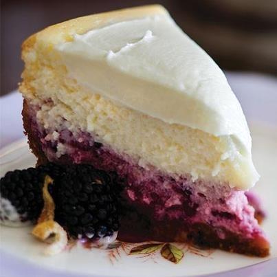 Lemon Blackberry Cheesecake | Leche..... | Pinterest