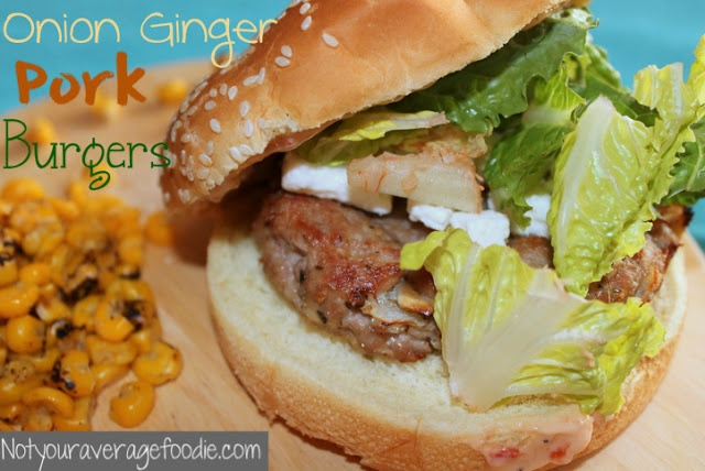 Onion Ginger Pork Burgers. | Not Your Average Foodie | Pinterest