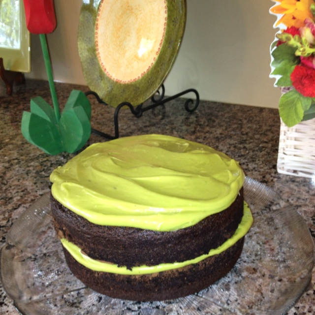 My attempt at making a vegan chocolate avocado cake from joythebaker ...