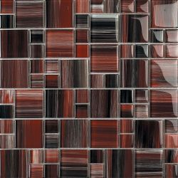 want this in our kitchen red black charcoal cream backsplash tile
