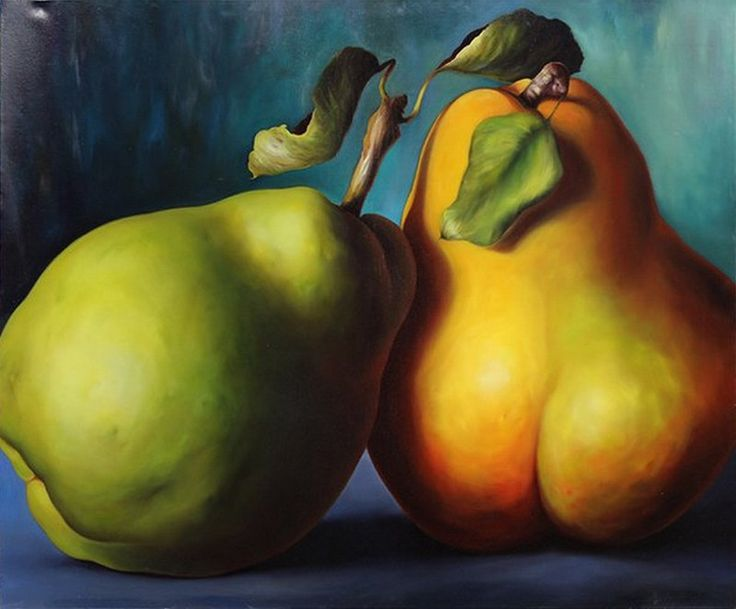 Carin Gerard — Portrait of Two Pears, 2007  (800x662)
