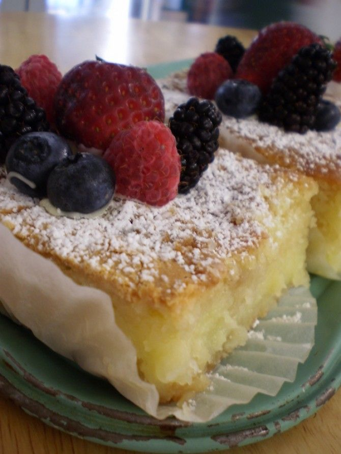 St. Louis Gooey Butter Cake Bar with patriotic berries, click through ...
