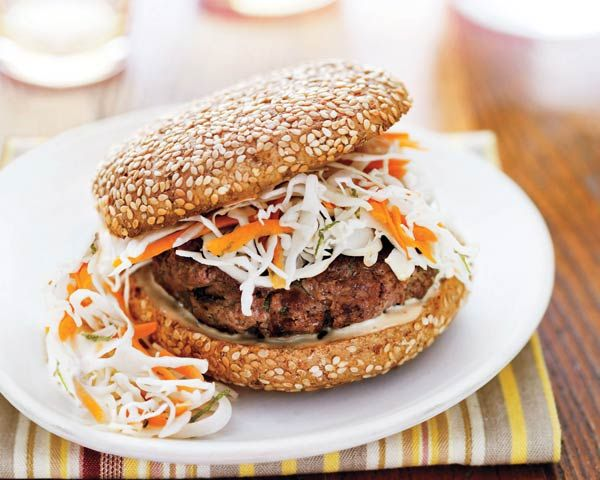 Gingered Burgers with Lime Slaw | Recipe