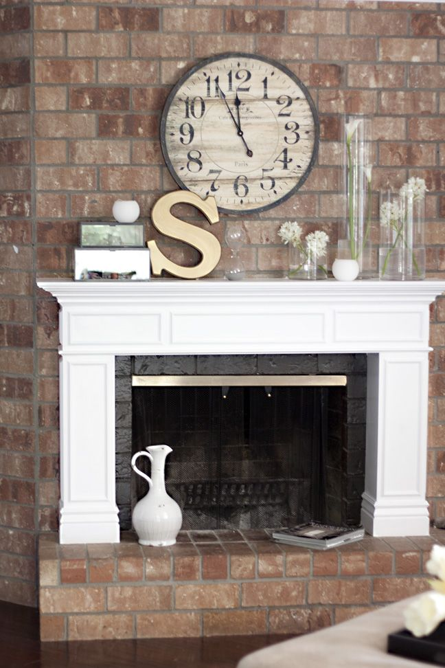 Simple how to build a mantle house projects pinterest for Over the mantle decor