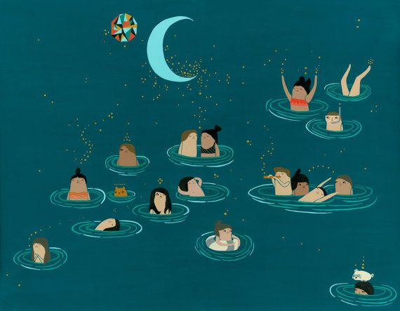 where do you buy beats by dre Night Swimmers Print  11x14