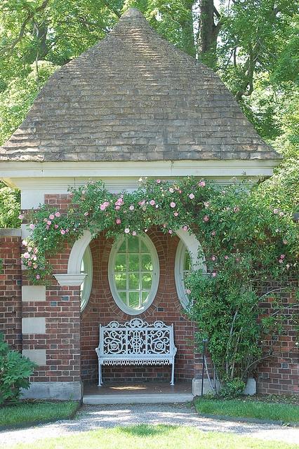 Brick garden folly