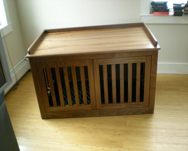 Double dog crate with pocket doors dog pinterest for Double door with dog door