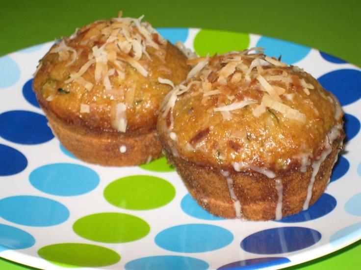 zucchini coconut muffins | Zucchini Recipes & Tips | Pinterest