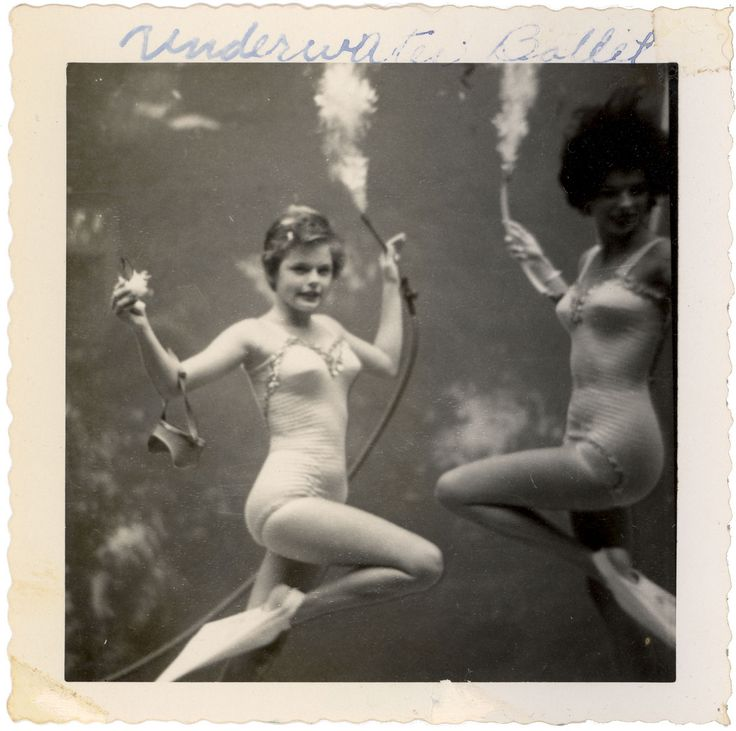 Underwater ballet, in the 1950s, Weeki Watchee