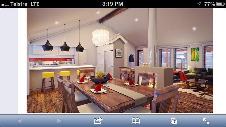Central Fireplace Kitchen Inspo Pinterest