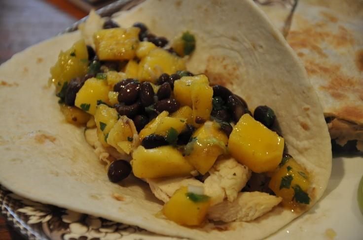... Box: Cilantro Lime Chicken Tacos with Mango and Black Bean Salsa