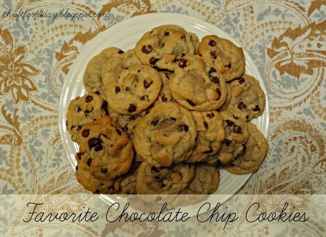 Easy chocolate chip cookie recipe | For Dessert | Pinterest