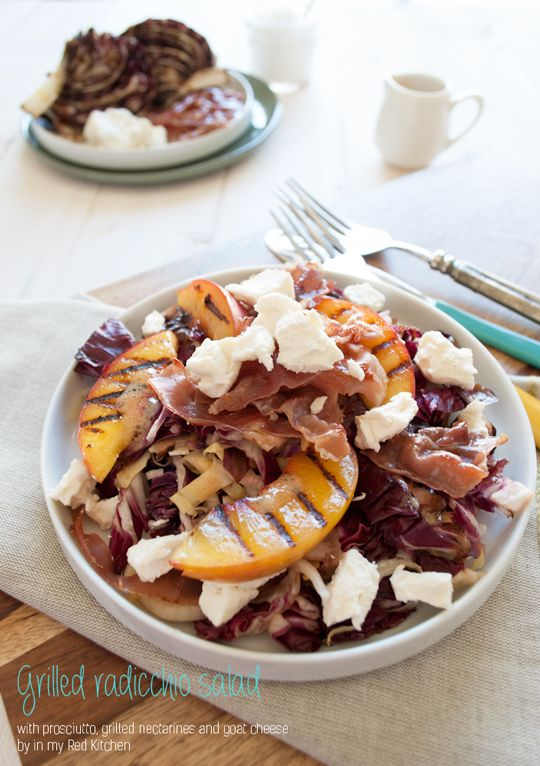 Grilled radicchio salad with prosciutto, goat cheese and sweet ...