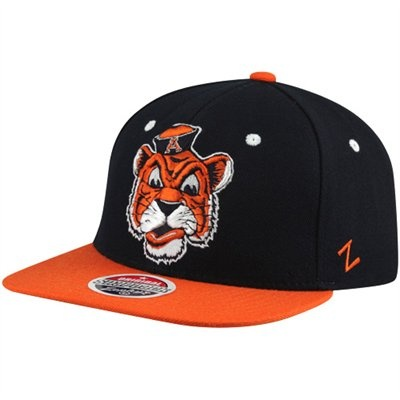 Zephyr Auburn Tigers Refresh Snapback Hat - Navy Blue-Orange