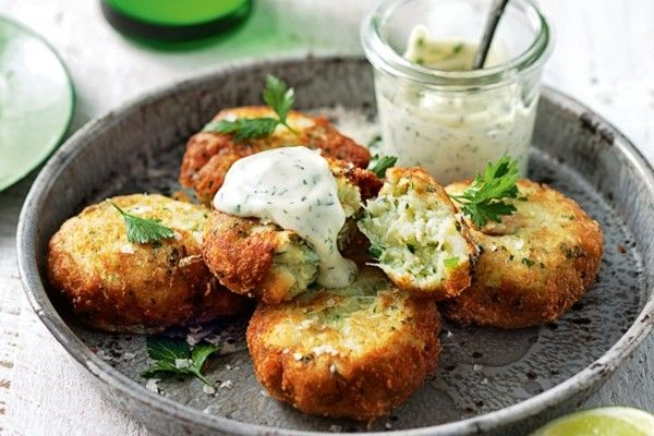 Spicy Crab Cakes with Horseradish Mayo.. I would add gorgonzola cheese ...