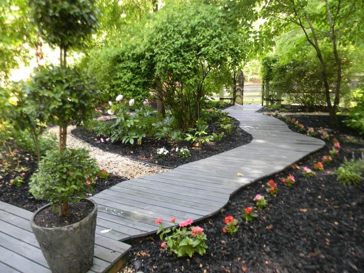 backyard wooden pathway home yard pinterest