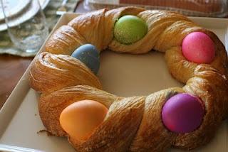 braided Easter egg bread... | EASTER!! | Pinterest