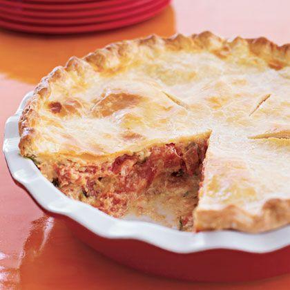 RecipeByPhotos: Tomato-Cheddar Pie | luncheon | Pinterest