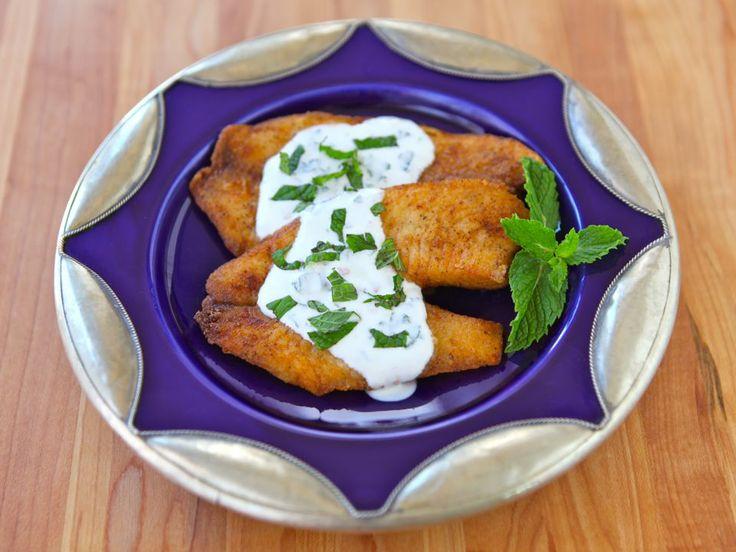 Crispy Fish with Greek Yogurt Mint Sauce | Recipe