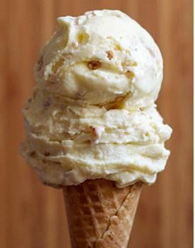 This looks redonkulously good. Butter Pecan Ice Cream on a cone.
