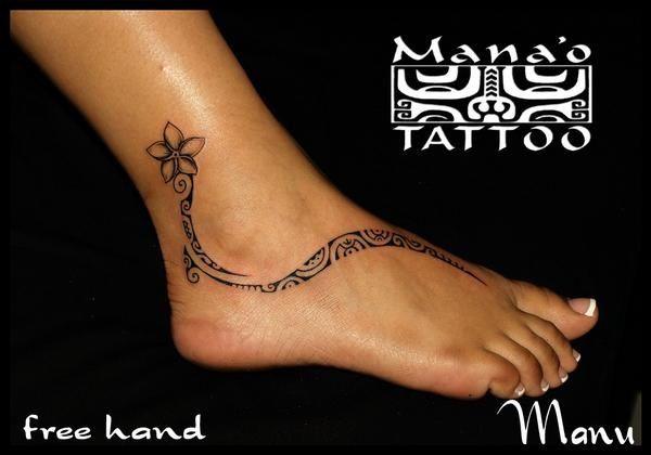 polynesian foot tattoo tattooed pinterest. Black Bedroom Furniture Sets. Home Design Ideas